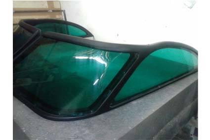 Visor de lancha em acrílico verde