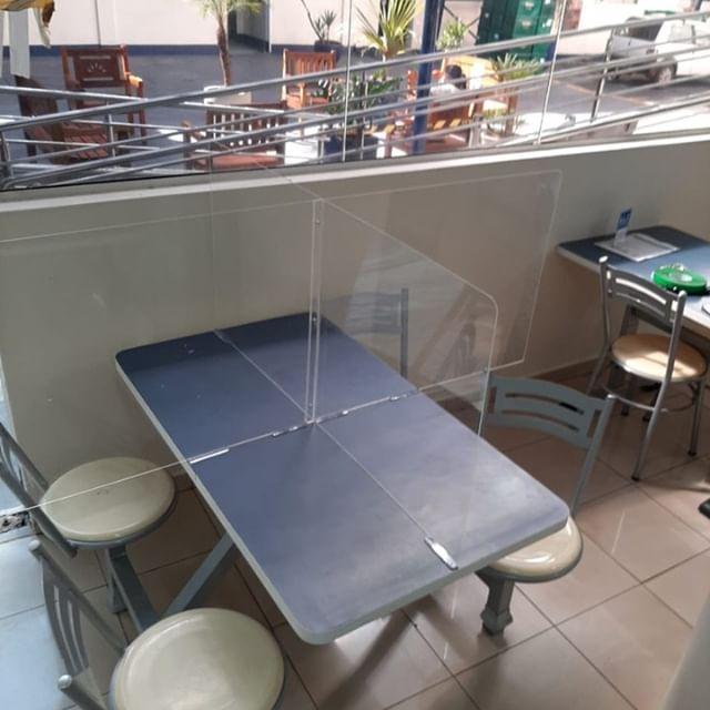 Proteção mesa refeitório em cruz (PS)