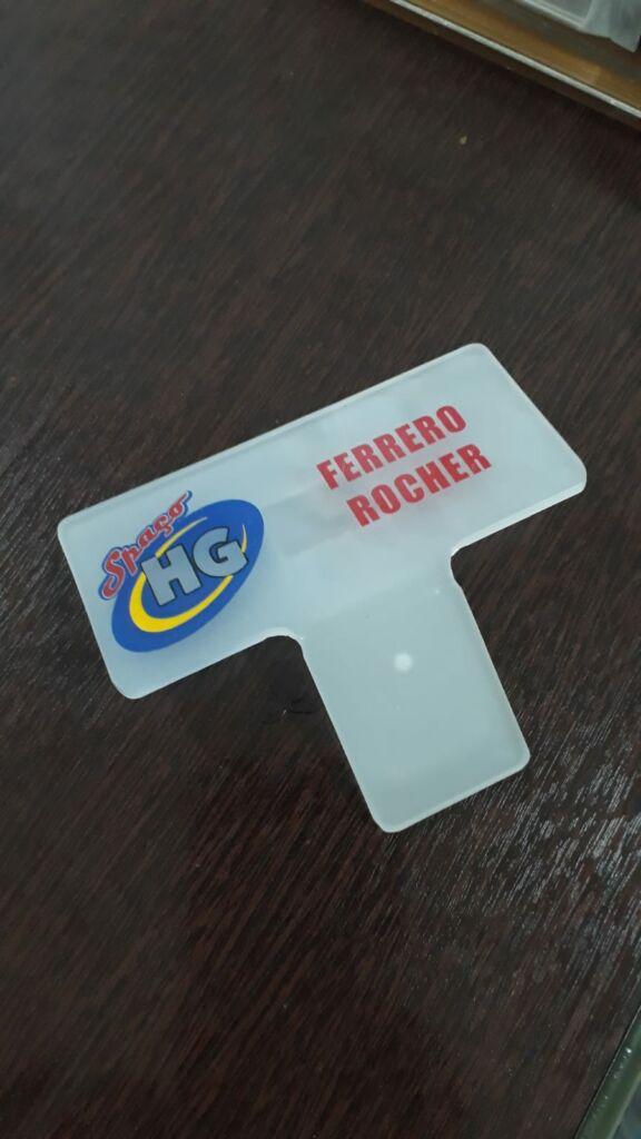 Placa para sorvete (encaixe no pote)