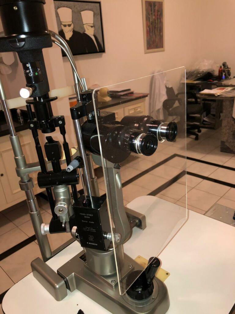 Proteção para aparelho oftalmológico